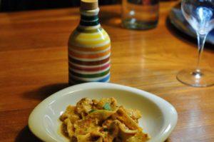 Trucioli di Gualtiero Marchesi con pesto trapanese e olio extravergine del Frantoio Muraglia di Trani