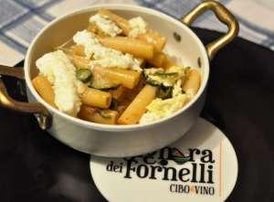 Ziti di Gragnano con zucchine saltate alla maggiorana e Zizzona di Battipaglia