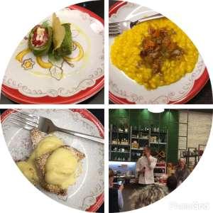 Dettaglio dei piatti preparati da Simone Rugiati in occasione dell'evento Thun #apranzoconSimone