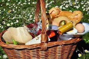 Cesto per il picnic di Pasquetta