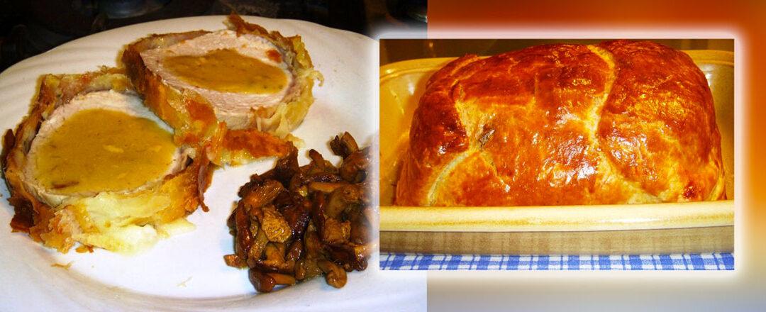 Arista di maiale laccata con miele e senape in crosta