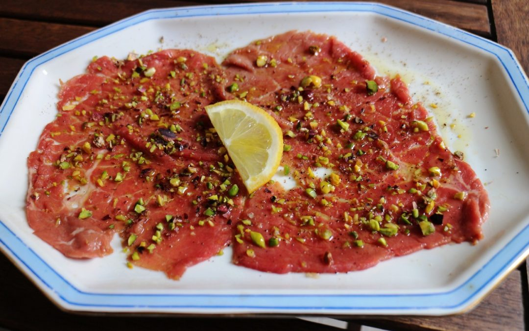 Carpaccio marinato in birra stout