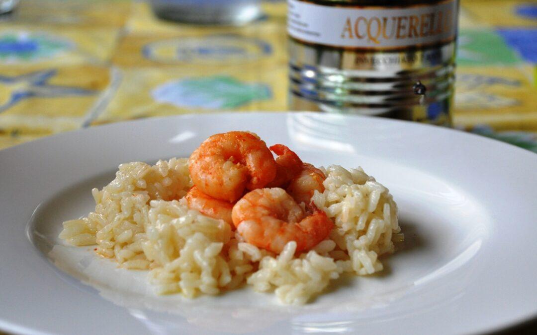 Pilaf di riso Acquerello con gamberi