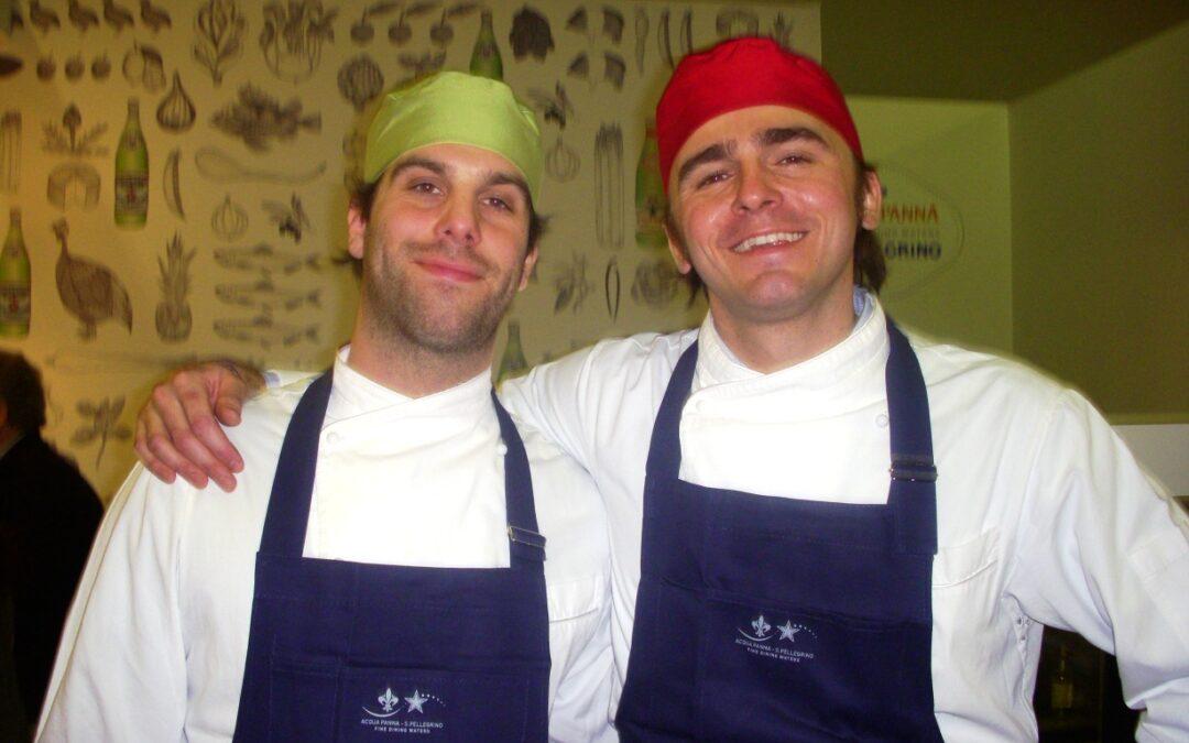Giovani chef allo stand San Pellegrino – Eugenio Roncoroni e Beniamino Nespor