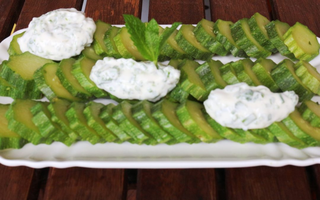Zucchine con Mayonese alle erbe