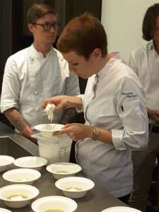 Gli chef Eleonora Barbone e Sergey Baranov