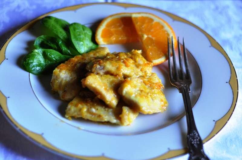 Petto di pollo all'arancia di Sicilia